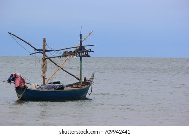 Fishing boat background