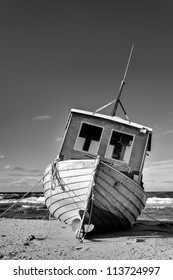 Fishing Boat at the Baltic Sea Coast of Usedom Island, Germany