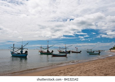fishing boat at the beach Thailand