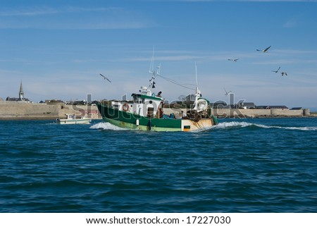 Fishing boat by St