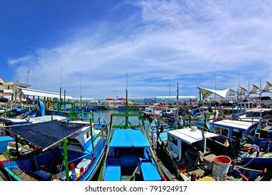 Fishing boat dock