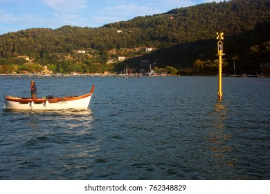 Fishing boat in front of Palmaria Island