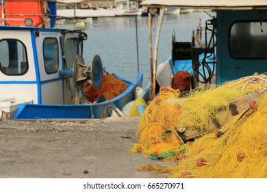 Fishing boat with gear - Greece
