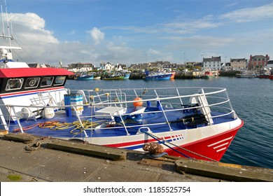Fishing boat at Guilvinec or Le Guilvinec, a commune in the Finistère department of Brittany in north-western France