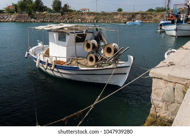 fishing boat in the harbour of Nea Potidea