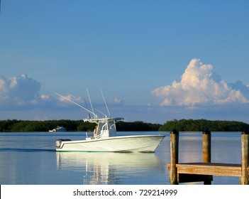 Fishing boat  at Islamorada in the Florida Keys