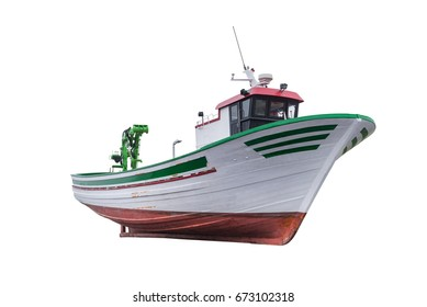 fishing boat isolated on white background