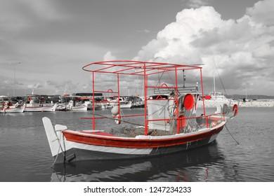 Fishing boat in Katakolon, Greece