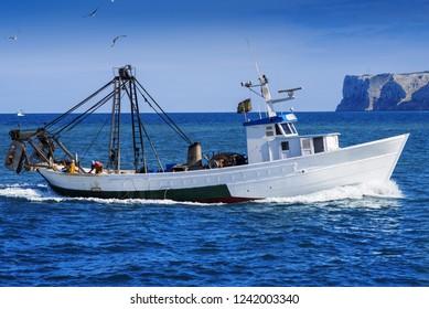 fishing boat in mediterranean Denia coast,Spain