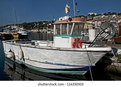 Fishing boat at its moorings