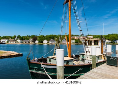 Fishing boat at Mystic Seaport, Connecticut, New England, USA.