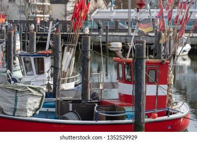 Fishing boat in Niendorf, Schleswig-Holstein, Germany