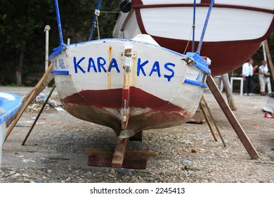 fishing boat in the old harbour of Antalya (Turkey)