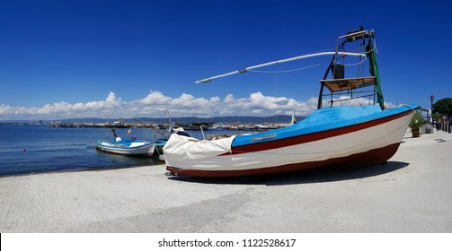 Fishing boat in old town of Nessebar