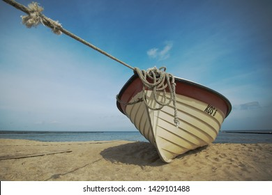 Fishing boat on the Baltic Sea in Usedon, Germany.