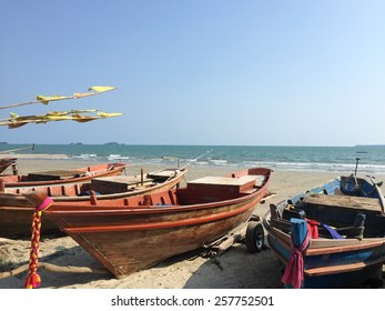 Fishing boat on the beach of Thailand