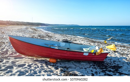Fishing boat on the Bornholm beach