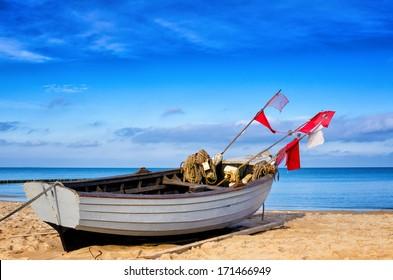 Fishing boat on Usedom (Germany)