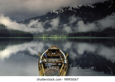 Fishing boat at rest. Windfall Harbor offers a quiet anchorage. Admiralty Island. Southeast Alaska's Alexander Archipelago. The Tongass National Forest.