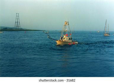 Fishing boat returning to port