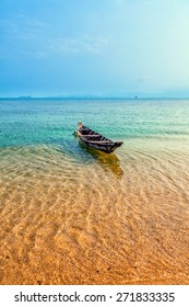 Fishing boat. Seascape.