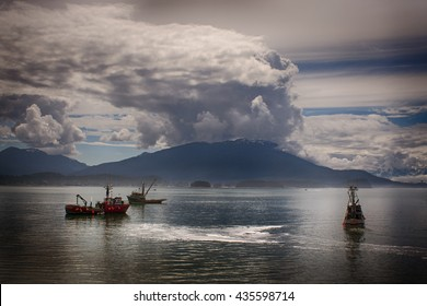 fishing boat seines for salmon , Alaska