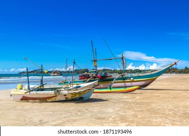 Fishing boat  in Sri Lanka in a summer day