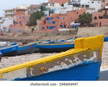 Fishing Boat in Taghazout Beach in Morocco