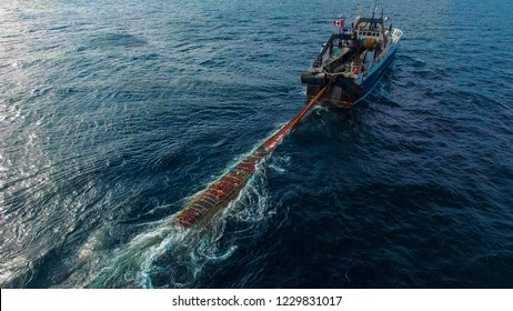 Fishing Boat Trawling for ground fish off the west coast of Canada