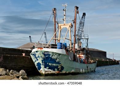 Fishing boat under refurbishment