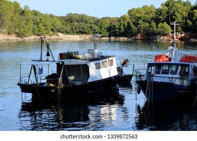 fishing boat in Valdarke, island Losinj, Croatia