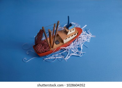 fishing boat in waves