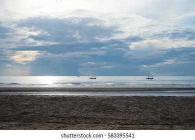 fishing boat,boat, sea,sand,beach,view ,landscapes,blue sky sea,sea,beach time