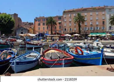 Fishing boats from Ajaccio, Corsica
