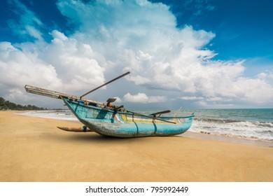 Fishing boats at Arugambay Sri Lanka