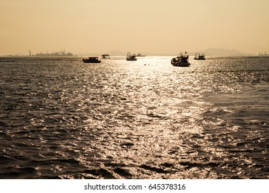 Fishing boats, in eastern sea of Thailand