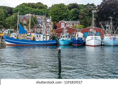 Fishing boats in Eckernfoerde, Germany