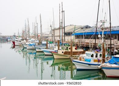 Fishing boats at Fisherman's Wharf in San Francisco