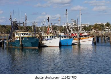 Fishing boats in harbour, Mooloolaba, Australia