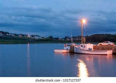 Fishing boats in Inverness harbor, Cape Breton, Nova Scotia