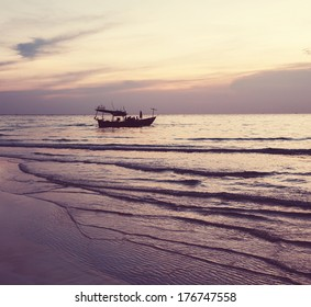 Fishing boats in Kep,Cambodia