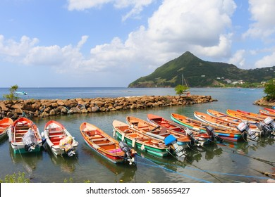 fishing boats, martinique, caribbean
