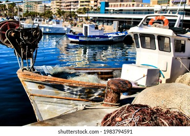Fishing boats moored in the port of Santa Pola, Alicante - Shutterstock ID 1983794591