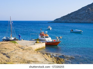 Fishing boats near the pier