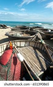 Fishing Boats on Ang Bang Beach, Hoi An, Vietnam