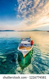Fishing boats on Ayvalik Bay