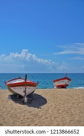 Fishing boats on the Beach at Calella