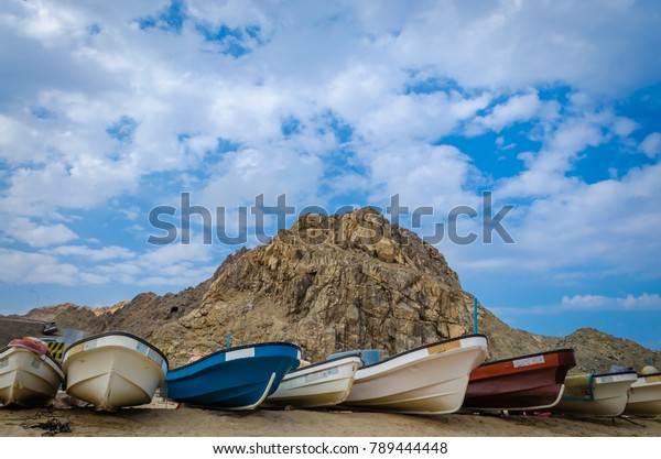 fishing-boats-on-beach-hill-600w-7894444