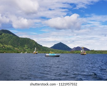 Fishing boats in the Port of Rabaul, PNG