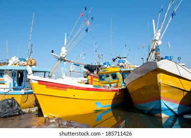 Fishing boats in the port, Sri Lanka